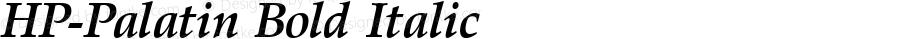 HP-Palatin Bold Italic 2