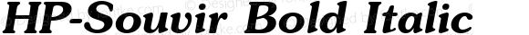 HP-Souvir Bold Italic