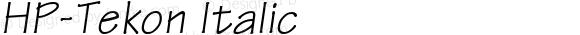 HP-Tekon Italic