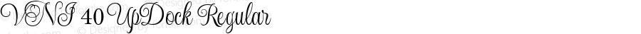 VNI 40 UpDock Regular Macromedia Fontographer 4.1.5 1/10/04