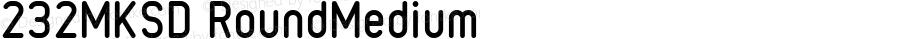 232MKSD RoundMedium Macromedia Fontographer 4.1J 09.4.28