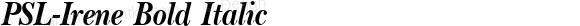 PSL-Irene Bold Italic Altsys Fontographer 3.5  24/11/95