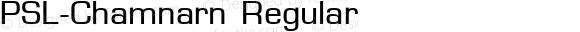 PSL-Chamnarn Regular Altsys Fontographer 3.5  25/11/95