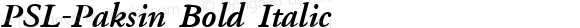 PSL-Paksin Bold Italic Altsys Fontographer 3.5  16/1/96