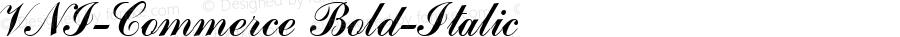 VNI-Commerce Bold-Italic 1.0 Tue Nov 30 13:26:51 1993
