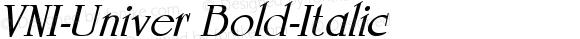 VNI-Univer-Bold-Italic