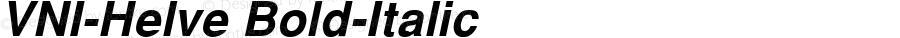 VNI-Helve-Bold-Italic