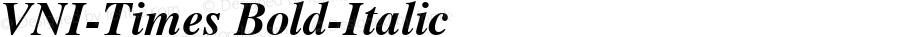 VNI-Times Bold-Italic 1.0 Mon Nov 29 13:29:54 1993