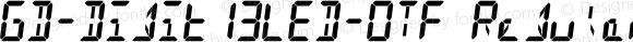 GD-Digit13LED-OTF Regular Version 0.954 (2005-09-06 rev.02b)