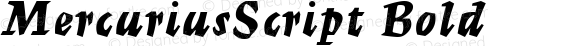 MercuriusScript Bold