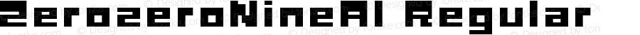 ZerozeroNineAl Regular Macromedia Fontographer 4.1J 08.7.3