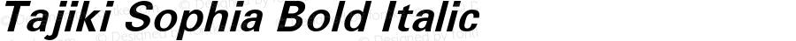 Tajiki Sophia Bold Italic Macromedia Fontographer 4.1 9/3/97 Compiled by TCTT.DLL 2.0 - the SIL Encore Font Compiler 10/26/00 06:26:09