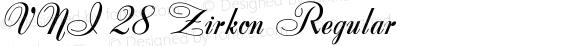 VNI 28 Zirkon Regular Altsys Fontographer 4.0.3 2/8/94