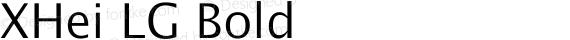 XHei LG Bold preview image