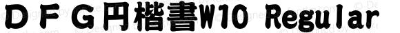 DFG円楷書W10 Regular 20 Jul, 2001: Version 2.00
