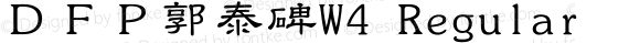 DFP郭泰碑W4 Regular preview image
