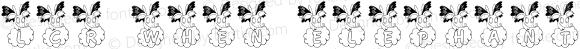 LCR When Elephants Fly! Regular Macromedia Fontographer 4.1 7/25/01