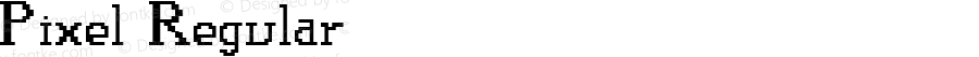 Pixel Regular Macromedia Fontographer 4.1.4 9/2/97