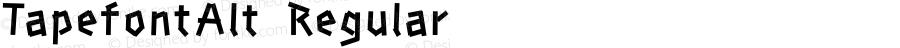 TapefontAlt Regular Macromedia Fontographer 4.1J 06.3.22