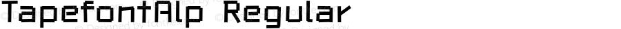TapefontAlp Regular Macromedia Fontographer 4.1J 06.3.22