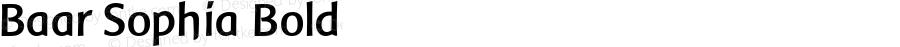 Baar Sophia Bold Macromedia Fontographer 4.1.5 2‐03‐25