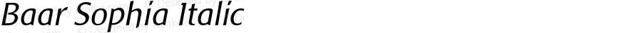 Baar Sophia Italic Macromedia Fontographer 4.1.5 2‐03‐25