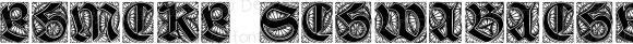 Ehmcke-Schwabacher Initialen Regular Version 1.0; 2002; initial release