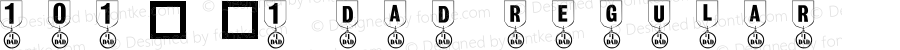 101! #1 Dad Regular Macromedia Fontographer 4.1 1/28/01