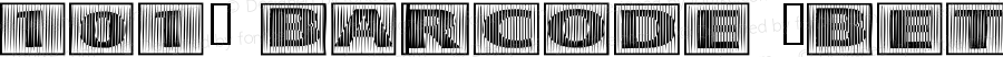 101! BarCode 'Bet Regular Macromedia Fontographer 4.1 11/16/02