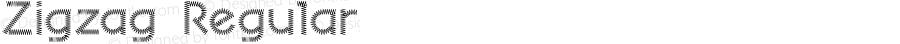 Zigzag Regular Macromedia Fontographer 4.1J 06.3.22