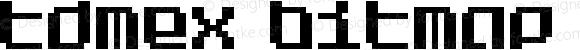 Tdmex Bitmap Regular Version 1.001