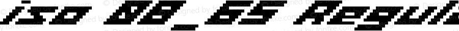 iso 08_65 Regular Macromedia Fontographer 4.1.4 5/12/03