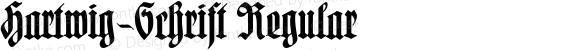 Hartwig-Schrift Regular 1.0 2005-07-02