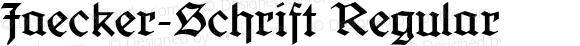 Jaecker-Schrift Regular 1.0 2005-08-16