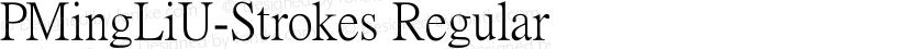PMingLiU-Strokes Regular Preview Image