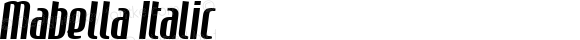 Mabella Italic Altsys Fontographer 4.0.2 15/10/01