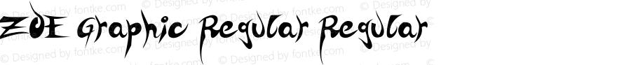ZOE Graphic Regular Regular Version 1.000 2007 initial release
