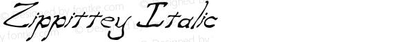 Zippittey Italic Version 002.000