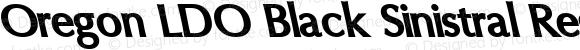 Oregon LDO Black Sinistral Regular Version 1.000 2004 initial release
