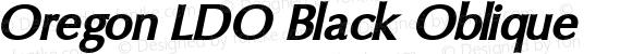 Oregon LDO Black Oblique Version 1.000 2004 initial release