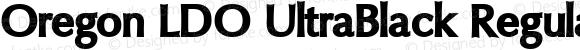 Oregon LDO UltraBlack Regular Version 1.000 2004 initial release