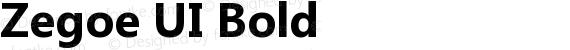 Zegoe UI Bold preview image