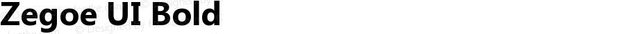 Zegoe UI Bold Version 5.00