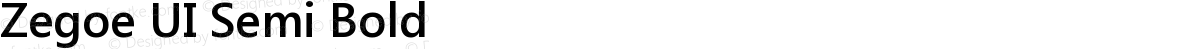 Zegoe UI Semi Bold