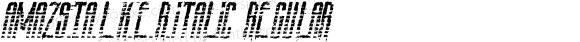 AmazS.T.A.L.K.E.R.Italic Regular Version 1.00 November 20, 2009, initial release