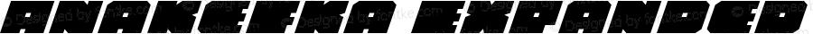 Anakefka Expanded Italic Expanded Italic 001.000