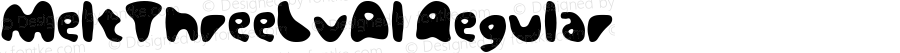 MeltThreeLvAl Regular Macromedia Fontographer 4.1J 08.7.3