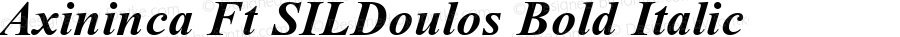 Axininca Ft SILDoulos Bold Italic Altsys Fontographer 4.0.3 1/13/94 Compiled by TCTT.DLL 2.0 - the SIL Encore Font Compiler 04/10/96 10:21:08