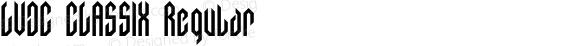LVDC CLASSIX Regular Macromedia Fontographer 4.1J 03.8.14
