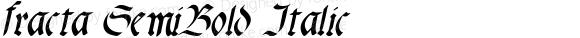 fracta SemiBold Italic